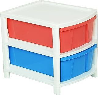 ARISTO Multipurpose 2-Drawer Plastic Modular Chest Organizer (Multicolour), Standard (Everest2)