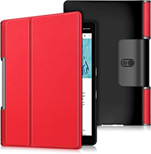 Gylint Case for Lenovo Yoga Smart Tab 10.1 (YT-X705F), Lightweight Protective Slim Smart Cover Case for Lenovo Yoga Smart Tab 10.1 (YT-X705F) Tablet Red