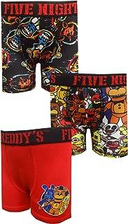 Bioworld Merchandising Boys' Five Nights at Freddy's 3 Pack Boxer Briefs