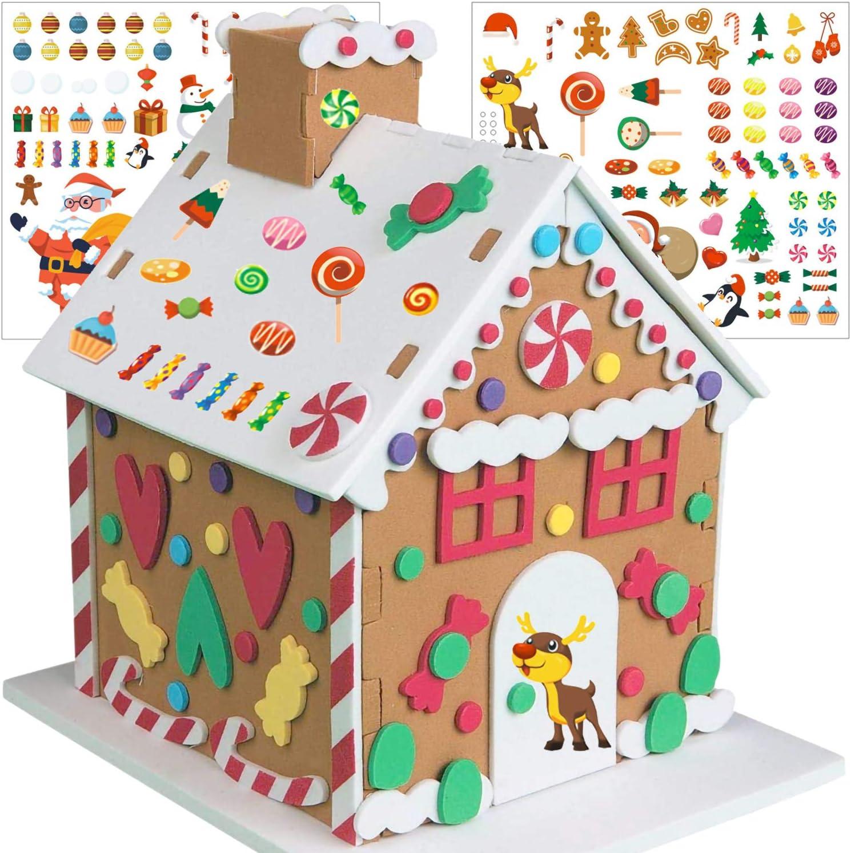 Make-A-Christmas Tree Scene Stickers 11 Sets Christmas Sticker Scene for Kids Christmas Holiday Activity