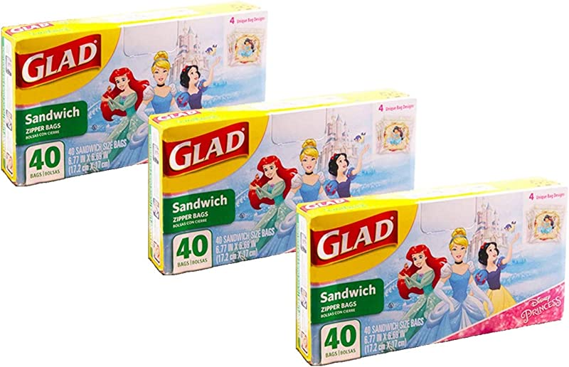 Disney Princess Lunch Bags For Kids Girls 120 Ct Value Pack Pack Of 3 40 Ct Sandwich Bags Disney Princess School Supplies