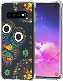 Galaxy S10 Case, Ailiber Floral Owl Colorful Bird Drawings Clip Art Thin Light Design Shock Absorption Soft TPU Bumper Protective Cover for Samsung Galaxy S10 6.1 inch - Owl Cartoon