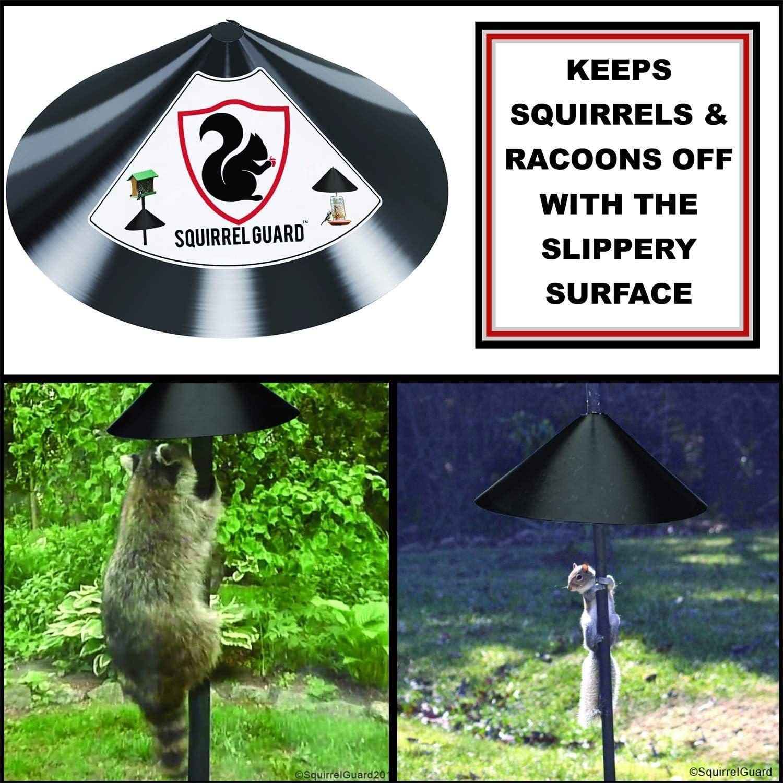 Durable 16/18 Inch Wrap Around Squirrel Baffle Bird Feeder ...