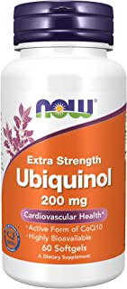 NOW Supplements, Ubiquinol 200 mg, High Bioavailability (the Active Form of CoQ10), 60 Softgels