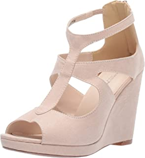 Touch Ups Women's Rory Wedge Sandal, Beige, 6 M US