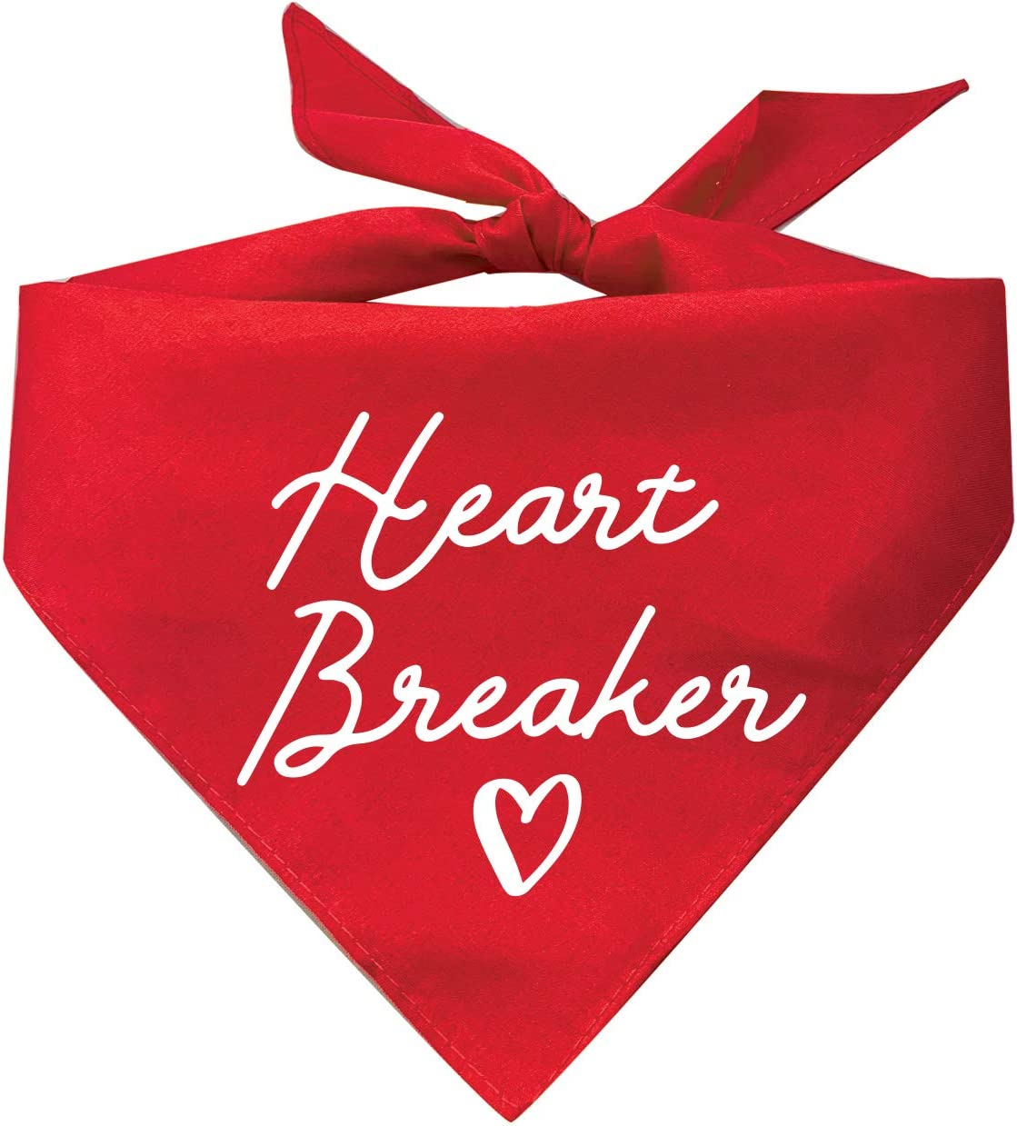 Tees Tails Heart Breaker Valentine's Max 56% OFF Bandana Dog Triangle Day Easy-to-use