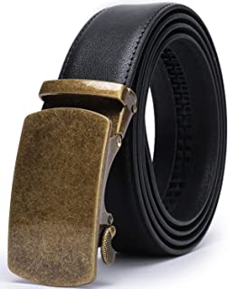 "Beltox Men's Dress Leather Ratchet Slide Belts with Removable Automatic Alloy Buckle 4MM Thick 1 3/8"" Wide in Gift Box"
