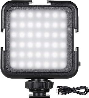 Andoer 42LED LED Videoleuchten Lichtperlen mit Kaltschuhmontage Dimmbare Helligkeit 6000 K Stabile Farbtemperatur Aufnahme Fotografieren Beleuchtung Kompatibel mit Canon Nikon Sony Digital DSLR Kamera