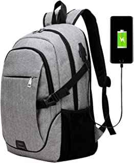 Men Business Laptop Backpack with USB Charging Port Anti Theft Travel Bag 15.6 Inch Computer Notebook Mochila Male
