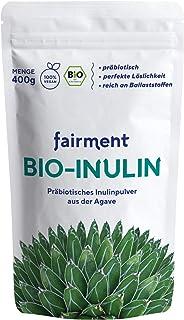 Fairment Bio Inulin Pulver - Ballaststoffreiches Inulinpulver im 400g Beutel - Präbiotika für Darmsanierung, Darmkur