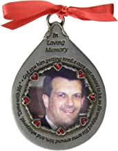 Cathedral Art CO751 in Loving Memory Frame for Man Teardrop Ornament, 2-3/4-Inch