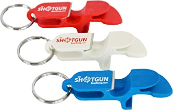 Shotgun Keychain Beer Bong America's 3-Pack, Bottle Opener, Shotgunning Tool, and Tap Opener All in One - Made in The USA