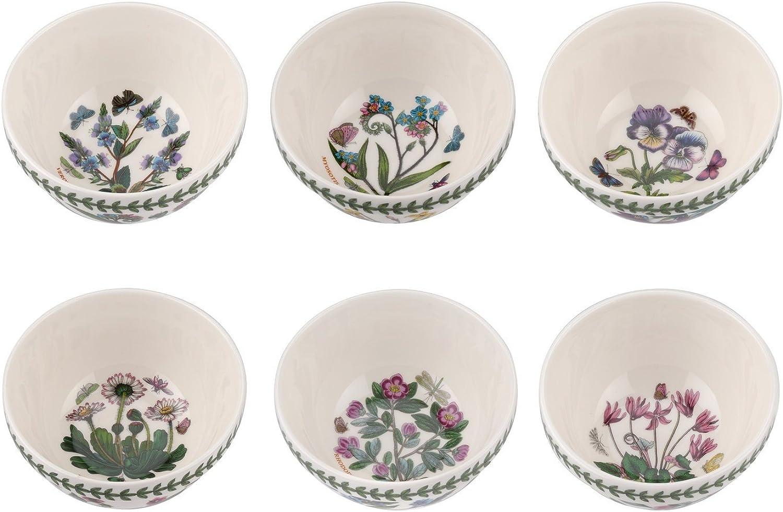 Portmeirion 655997 Botanic Garden Stacking Bowl 5  Set of 6 (Assorted Motifs)