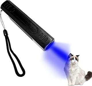 365nm Black Light UV Flashlight Rechargeable Wood's lamp Portable Ultraviolet Light Detector for Dog Urine Pet Stains, Cat...