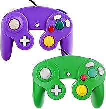 TechKen Manette Classique pour Gamecube, Contrôleur NGC Filaire GC Manette Contrôleur de Jeu Super Smash Bros Controller N...