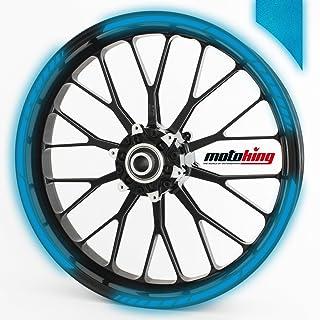 Felgenrandaufkleber GP im GP Design passend für 17 Zoll Felgen für Motorrad, Auto & mehr   REFLEKTIEREND DUNKELBLAU
