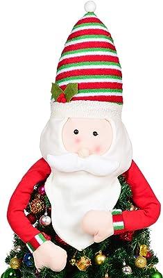 Decorazione natalizia Puntale dellalbero di Natale del pupazzo di neve Top Hugger Ornamentsfor di Natale del partito della casa