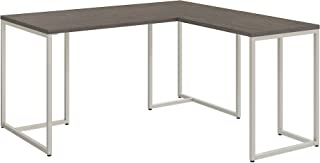 Office by kathy ireland Method 60W L Shaped Desk with 30W Return in Cocoa