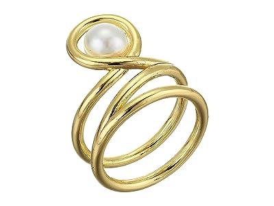 Rebecca Minkoff Single Pearl Twist Ring (Gold) Ring