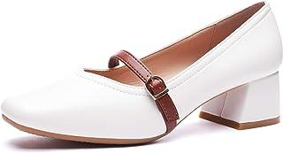 CINAK Ophelia Women's Mid Heel Pumps - Square Toe One...