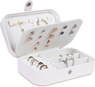 misaya Jewelry Box for Women Doubel Layer Travel Jewelry Organizer for Necklace Earring Rings Sparkle Jewelry Holder Case,...