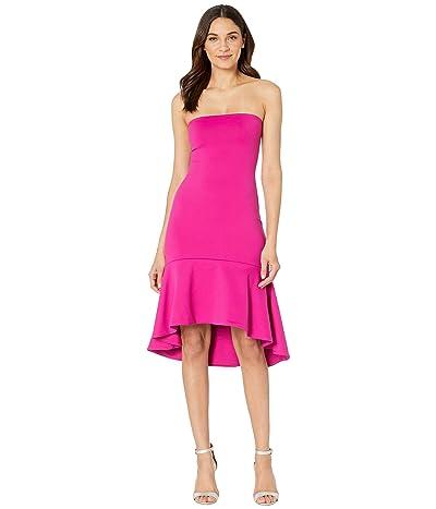 Susana Monaco Ruffle Hem Strapless Dress (Peony) Women