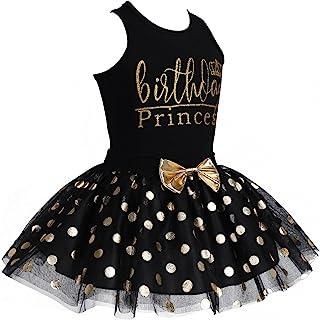 d5f7b04d45638 Freebily Robe d'anniversaire Princesse Baptême Bébé Filles Gilet Débardeur  sans Manches & Jupe Noeud