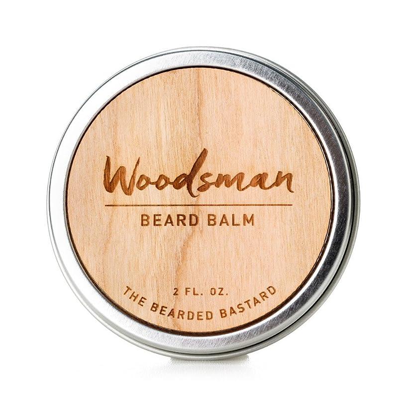 Woodsman Beard Balm | For a More Attractive, Healthy Beard | Men's Beard Balm, Wax, Conditioner, for Facial Hair Care, Men's Grooming | Jojoba, Argan and Sweet Almond Essential Oils 2 Ounce Tin