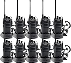 walkie talkies Rechargeable Long Range Waterproof Two-Way Radios Earpiece 10 Pack UHF 400-480Mhz Li-ion Battery Charger Included