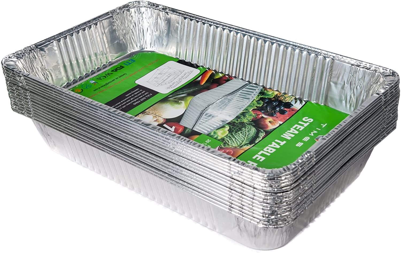 Aluminum Full Size Deep Pan ,15 Packs Aluminum Oblong Foil Deep Pan Containers
