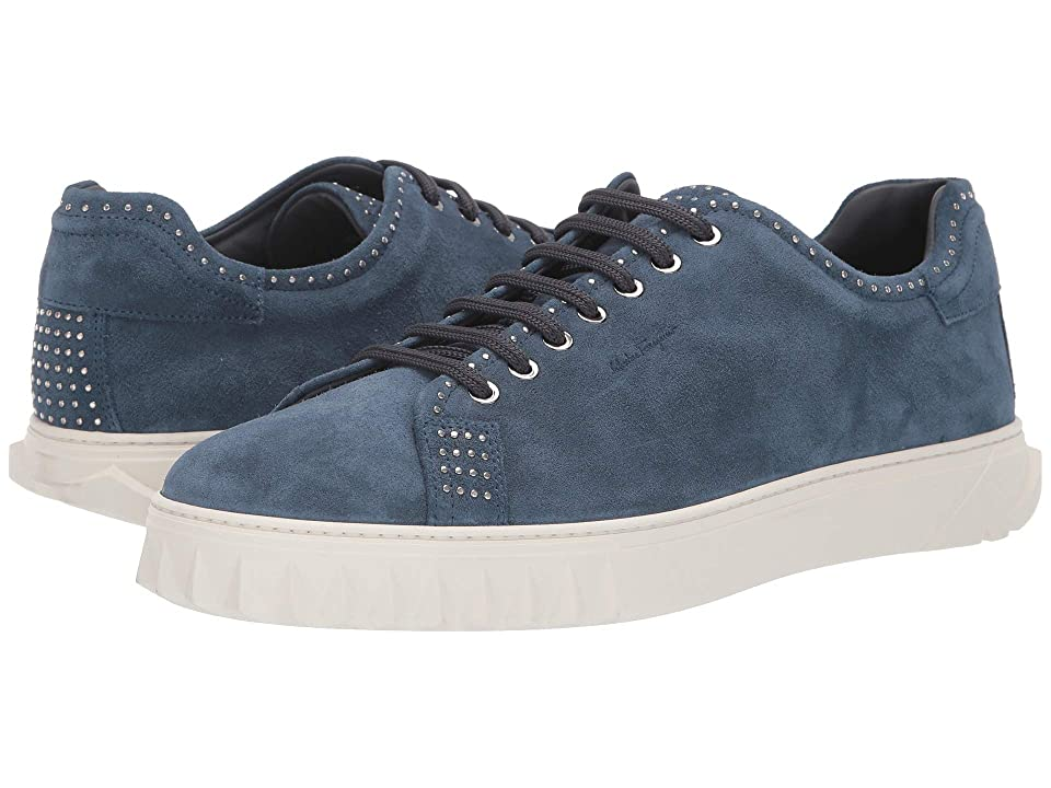 Salvatore Ferragamo Cube 10 Sneaker (Steel Blue) Men