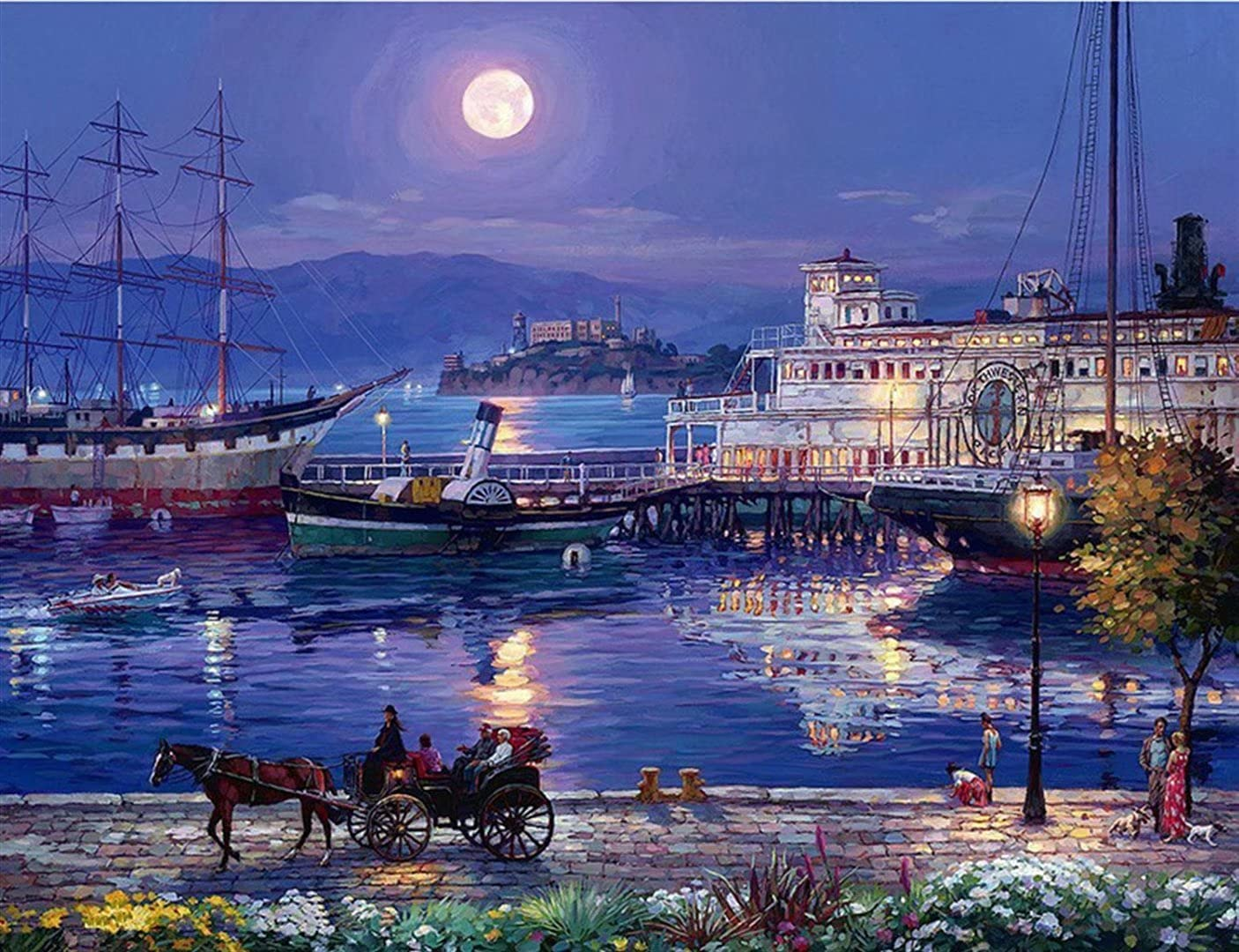 Mstoio Ranking TOP2 Wooden Jigsaw Puzzles 3000 Pieces for New arrival City Night V Adults