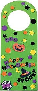 Fun Express - Halloween Friends Foam Door Knob Hangers for Halloween - Craft Kits - Hanging Decor Craft Kits - Door Knob Hanger Craft Kits - Halloween - 50 Pieces