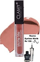 Clamy Matte Me Ultra Smooth Lip Gloss Lip Cream, Brown Nude, 6ml, With Resme Eyeliner