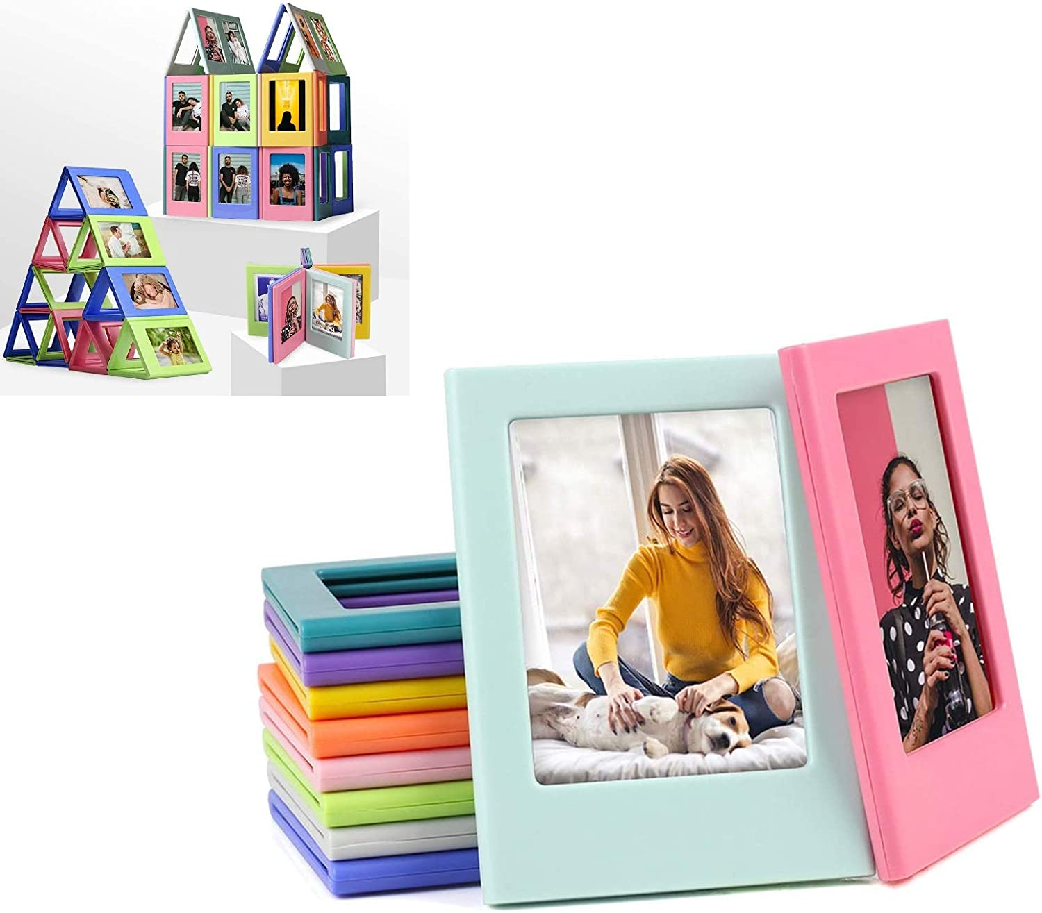 Aomeiter 10 Pack Super intense Limited price sale SALE Thick Mutually Mini Frames Attractive Photo 3in