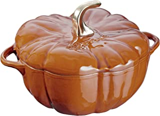 Staub 11124806 Cast Iron Pumpkin Cocotte, 3.5-quart, Burnt Orange