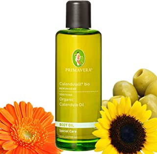 Primavera Bio Körperöl Massageöl 100% naturreine ätherische Öle, Duft:Calendulaöl Bio