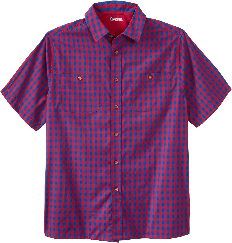 KingSize Mens Big /& Tall Short-Sleeve Printed Sport Shirt