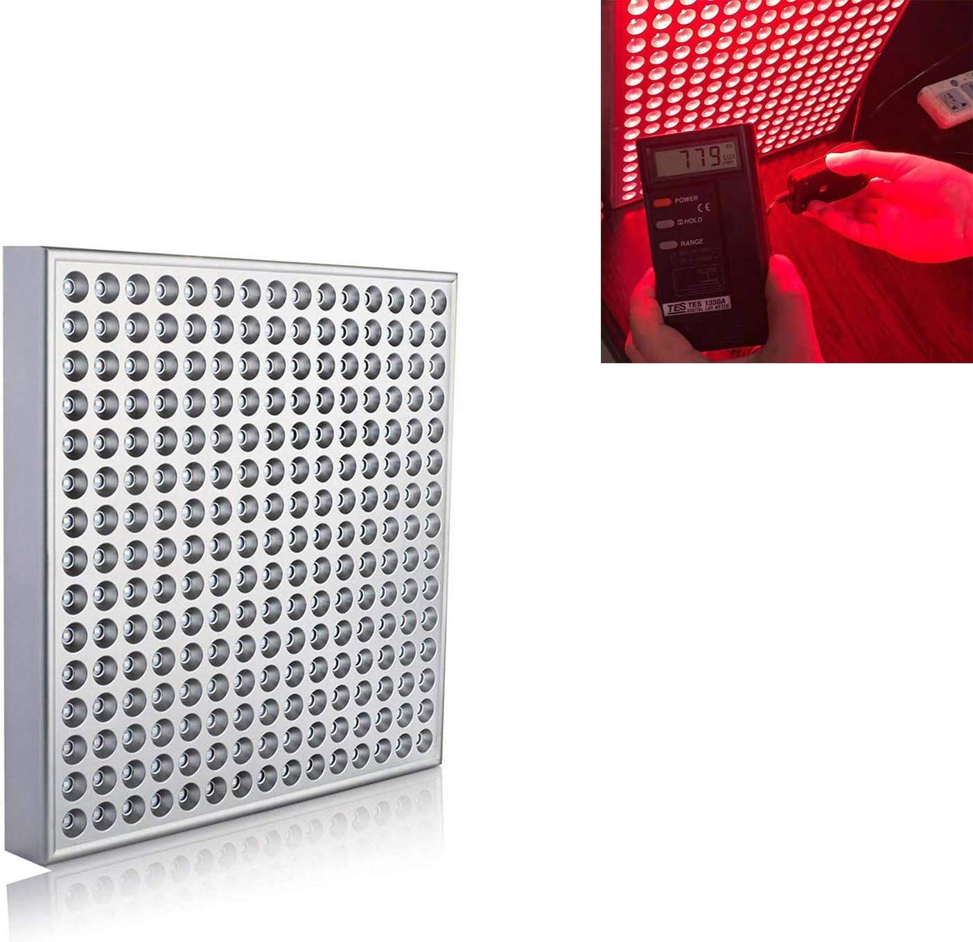 HSART Lámpara De Terapia LED De Luz Roja 660 NM, 850 NM Panel LED De Infrarrojo Cercano Aliviar Los Problemas De La Piel Lámpara De Fisioterapia