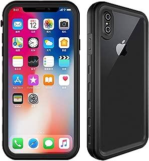 HESGI 苹果 iPhone XS Max(2018 *新),IP-68 防水防震防雪防尘仅适用于 iPhone XS MAX 6.5 英寸黑色和背面透明
