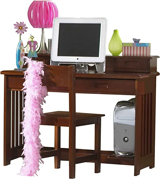 Discovery World Furniture Student Desk With Hutch And Chair Merlot