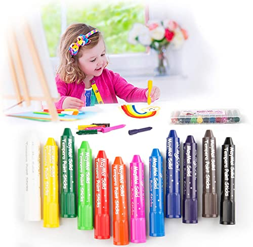 wholesale MayMoi Washable Crayons Tempera discount Paint Sticks for Kids, Teens and Adults, 12 online sale Colors, Non-Toxic, Quick Drying outlet online sale