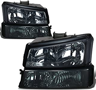 Chevy Silverado 1500 Direct Replacement Head Lights + Bumper Signal Lamps Smoke