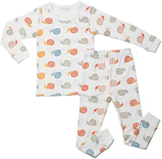 Little Boys Girls Kids Cotton Pajama Sleepwear Set Long Sleeve 18M-12Y Snail