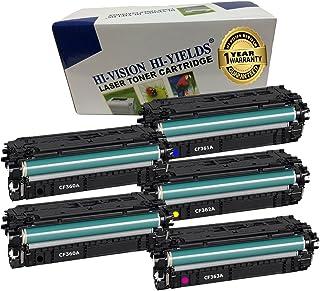 HI-VISION 5 PK Compatible HP 508A [CF360A CF361A CF362A CF363A] Toner Cartridge