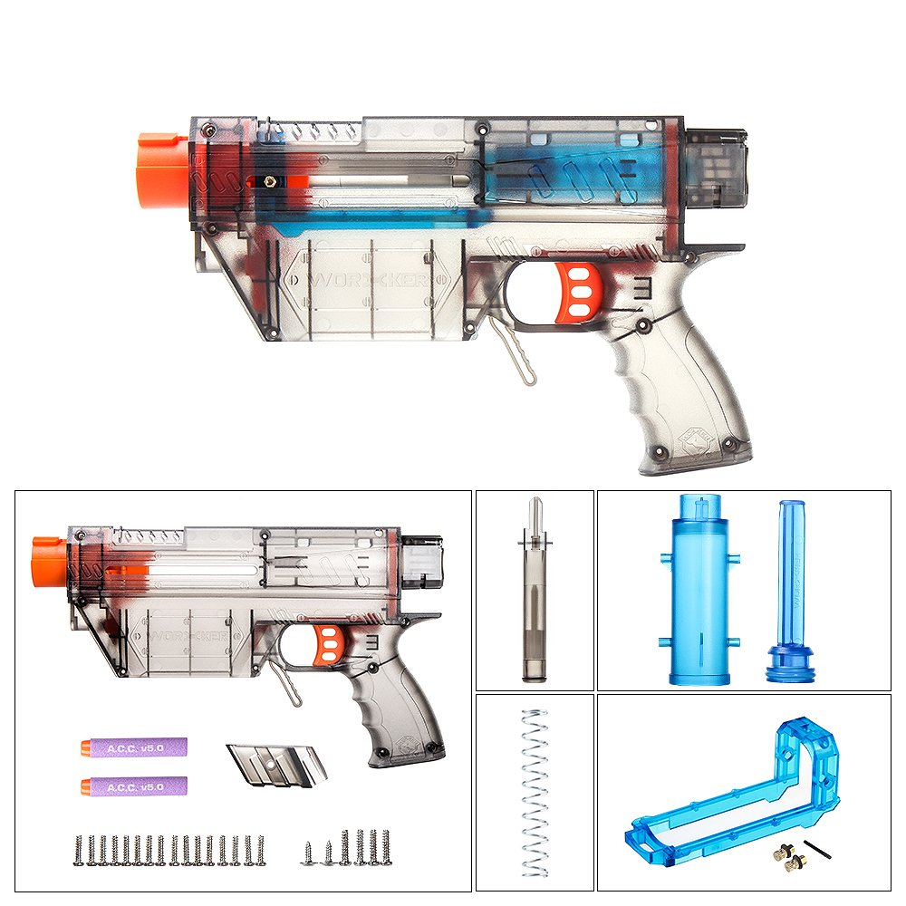 Worker MOD Prophecy-R Soft Bullets Ramrod for Accurate and B Blue Transparent