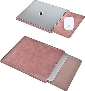 TECOOL 13.3 Pulgadas Funda Ordenador Portátil, Funda de Cuero Protectora Bolsa Laptop Sleeve para 2012-2020 MacBook Air/Pr...