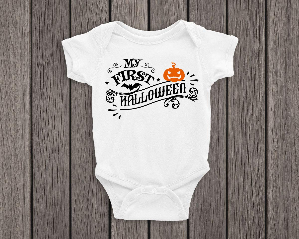 My A surprise price is realized first halloween Funny baby outfit tod onesie service bodysuit