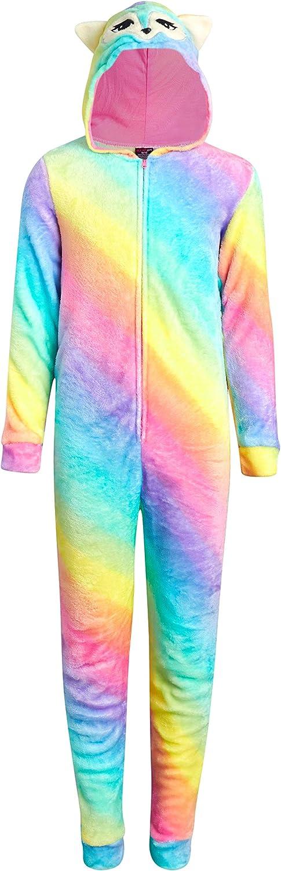 dELiAs Girls 1 year warranty Coral Fleece Onesie Great interest with Hood Character Pajamas
