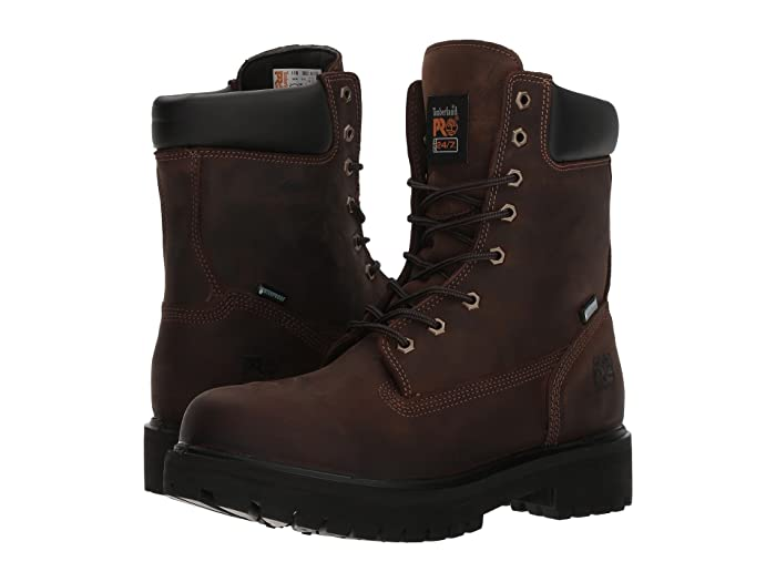 Timberland PRO  Direct Attach 8 Soft Toe (Brown Oiled Full-Grain Leather) Mens Work Lace-up Boots